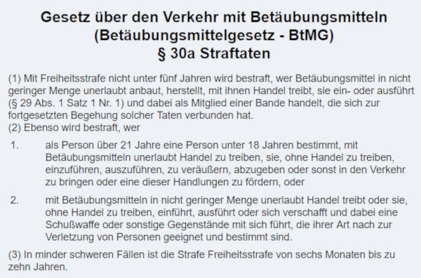 30a BtMG Definition