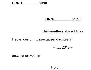 Umwandlung GbR in GmbH